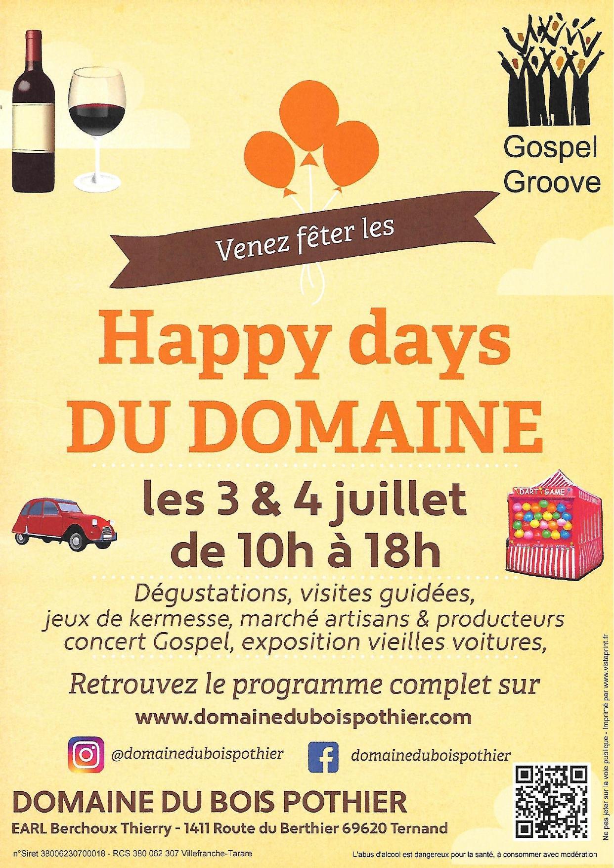 Affiche happy days du domaine page 0001